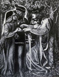 How They Met Themselves Drawing by Dante Gabriel Rossetti. Dante Gabriel Rossetti, Renaissance Literature, Renaissance Art, Medieval, Pre Raphaelite Brotherhood, Edward Burne Jones, John Everett Millais, Drawing Sketches, Drawings
