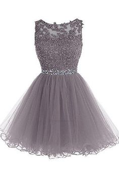 Sexy Prom Dress,Tulle Prom Dress,Short Homecoming Dress,Prom Gown - - Vestidos 🙂 Marce Source by Semi Dresses, Hoco Dresses, Pretty Dresses, Dress Outfits, Semi Formal Dresses For Teens, Grey Short Dresses, Silver Dama Dresses, Freshman Homecoming Dresses, Cute Formal Dresses