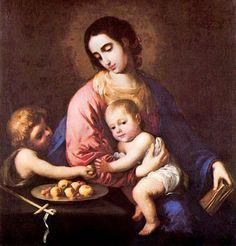 Francisco de Zurbarán (Spanish painter, 1598–1664) Virgin and Child of San Juan