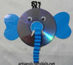 Elephant Craft for Kids Crafts With Cds, Old Cd Crafts, Vbs Crafts, Camping Crafts, Arts And Crafts, Safari Crafts, Jungle Crafts, Craft Projects For Kids, Easy Crafts For Kids