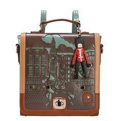 Bolsa 2013 mulheres novo estilo vintage formal corante partida recorte MMobile mochila de transporte saco aluno livre