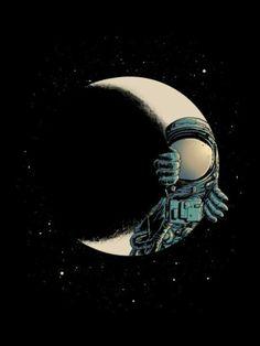 Luna y astronauta