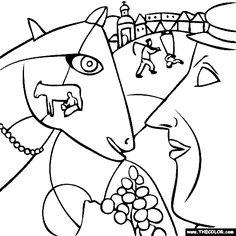 Joan Miro Singing Fish Coloring
