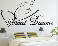Sweet Dreams - Vinyl Wall Art Decal - Wall Saying - Bedroom - Sticker - Vinyl Letters - Home Décor - Black Matte ** Hurry! Check out this great product : Wall Stickers and Murals for Home Decor