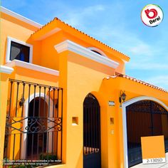 House Paint Exterior, Exterior House Colors, Dream Home Design, House Design, Mexican Style Homes, Brick Cottage, Mexico House, Hacienda Style, Yellow Walls