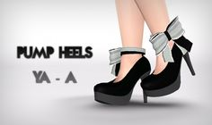 Pump heels and female model by FaA - Sims 3 Downloads CC Caboodle