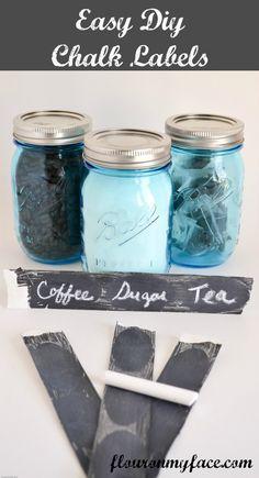 DIY, Chalk, Paint, Labels, Mason Jars