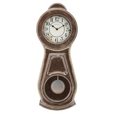 Bulova Guilford Wall Clock - An aged rubbed finish with natural brown undertones…