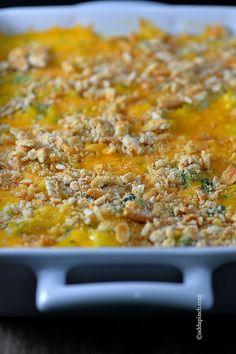 Broccoli Cheese Casserole Recipe ~ fabulous Side Dish!