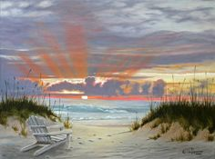 Ocean Sunset - Julie Peterson Oil Paintings (East Wenatchee, WA)