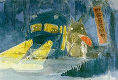 Hayao Miyazaki, Tonari no Totoro All Studio Ghibli Movies, Studio Ghibli Art, Hayao Miyazaki, Totoro Characters, My Neighbor Totoro, Illustrations, Cute Art, Concept Art, Manga
