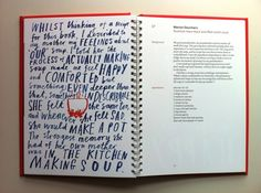 Creative Review - What do designers like to eat? Cookbook layout 2
