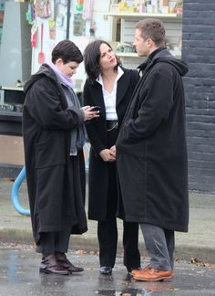 Ginny, Lana & Josh on set - October 22, 2014