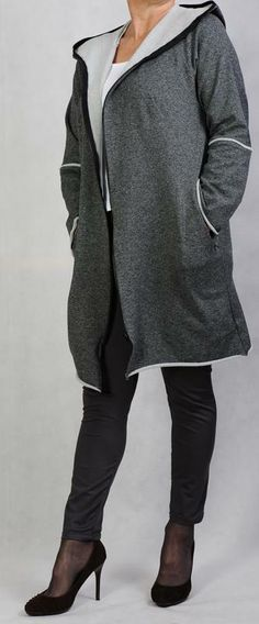 Sweatshirt Jacke mit Kapuze free bis Gr. 52