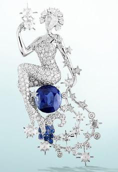 Van Cleef and Arpels myths collection Constellation Cassiopée clip, 2010, Les Voyages Extraordinaires™ collection