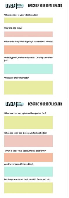 To gain more followers and views you have to know who you are catering to. Click through to download a free worksheet to help you describe your ideal reader for you blog.