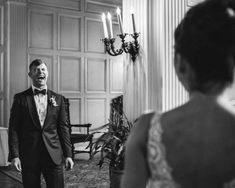 Groom seeing the bride for the first time on their wedding day | The Markows Photography