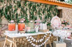 Παραμυθένια κοριτσίστικη βάπτιση με θέμα floral blossom - EverAfter Candy Table, Dessert Table, Christening, Fairy Tales, Girly, Table Decorations, Floral, Crafts, Events
