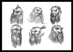 ArtStation - Dwarf Head Studies , Dante Fuget