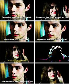 "Teen Wolf 6x01 ""Memory Lost"" and I'm pretty sure he has a crush on her since the third grade. Get it right MTV!"