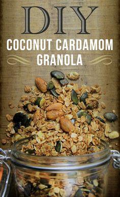 Snack Recipe: Coconut Cardamom Granola