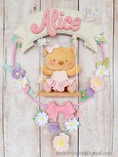 Felt Crafts Dolls, Felt Crafts Patterns, Felt Crafts Diy, Foam Crafts, Crafts For Kids, Bear Felt, Felt Baby, Teddy Bear Party, Baby Deco