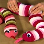 fill tights with uncooked rice - great sensory play (for infants I would not use googly eyes - either draw or sew eyes on to be safe with mouthing)