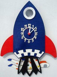 Rocket Pendulum Clock   Handmade and British