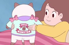 Poo Monster (Bee & Puppycat) QR codes
