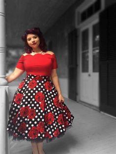 Rockabilly stretch top Rockabilly Outfits ca0763653