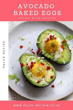 Avocado Baked Eggs⁠  #Paleo #recipe #food