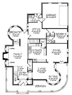 images about Floor Plans  Varied on Pinterest   Victorian    Styles include country house plans  colonial  Victorian  European  and ranch
