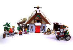 Winter Village: Farm - LEGO Town - Eurobricks Forums Lego Christmas Sets, Lego Christmas Village, Lego Winter Village, Lego Village, Lego Mindstorms, Lego For Kids, All Lego, Lego Gingerbread House, Christmas Mosaics