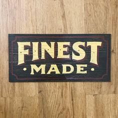 Finest made.. #signwriting #signpainting #distressedsigns #tradesigns #vintage #kaligrafina #belmenid #goodtype