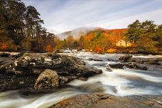 Water Colour by Neil O'Connell on 500px - beautiful photo of The Falls of Dochart in Killin, Scotland