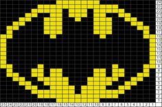 Batman Knitting Chart Pattern : batman logo afghan Graficos y Punto de Cruz Pinterest Batman Logo, Afgh...