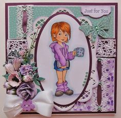 Our DT Member Gail is very talented! Look this card! Beautiful, don't you think? Gail use this digi:http://www.thepapershelter.com/index.php?main_page=product_info&cPath=1&products_id=380 And here is her Blog: http://www.laceylassy.blogspot.com.ar/