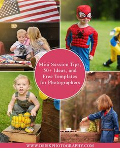 Mini Session Tips, Ideas, and Free Templates for Photographers