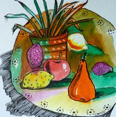 Paintings, Plates, Tableware, Kitchen, Watercolor Painting, Licence Plates, Cuisine, Dishes, Dinnerware