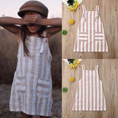 Baby Girl Birthday Dress, Baby Dress, Dresses Kids Girl, Kids Outfits, Baby Girl Fashion, Kids Fashion, Toddler Dress Patterns, Girl Sleeves, Stripes Fashion