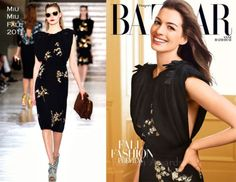 miu  miu dress hapers bazaar