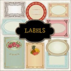 Gorgeous free printable labels but they take a while to download