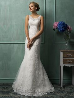Cheap bridal gown, Buy Quality mermaid wedding dresses directly from China wedding dress vintage Suppliers: 2017 Amelia Sposa Mermaid Wedding Dresses Vintage Bateau Neck Lace Appliqued Sheer Back Tulle Court Train Church Bridal Gowns Wedding Dresses For Sale, Bridal Dresses, Wedding Gowns, Lace Wedding, Mermaid Wedding, Wedding Blog, Lace Mermaid, Party Dresses, Wedding Dress Petite