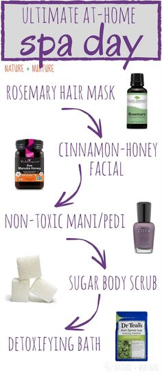 Epic All-Natural, At-Home Spa Day Routine (with diy recipes). Pamper yourself with 3 diy skin care recipes and other lavish treatments to feel your best. Homemade Deodorant, Homemade Skin Care, Diy Skin Care, Spa Day At Home, Home Spa, Diy Spa Tag, Pregnancy Spa, Diy Design, Natural Beauty Recipes