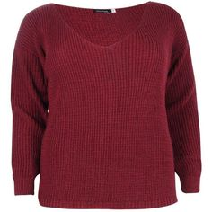 Boohoo Plus Cally Oversized V-Neck Jumper | Boohoo ($26) ❤ liked on Polyvore featuring tops, sweaters, jumpers sweaters, v-neck sweater, oversized jumper, boohoo jumpers and red top