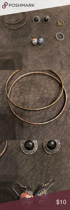 Jewelry Bundle Rings are size 6-7. Flower earrings alone were $15 originally. Jewelry