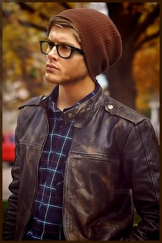 Hipster by pompei77 on DeviantArt (merged Jensen's face with...)