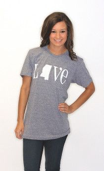 Riffraff | Shop State Love | Love Mississippi T Shirt <3
