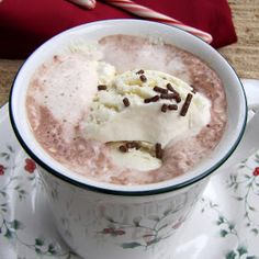 Rumbly In My Tumbly: Hot Chocolate with Frozen Homemade Whipped Cream