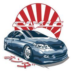 Honda Civic FD on Behance